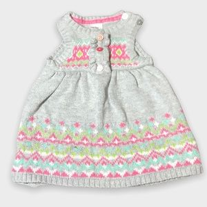 4/$20🥳 Light Gray Knitted Newborn Sweater Dress